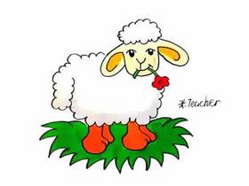 叼花的小绵羊简笔画画法图片步骤