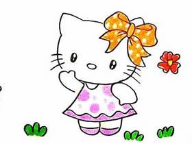 漂亮又可爱的凯蒂猫简笔画画法图片步骤