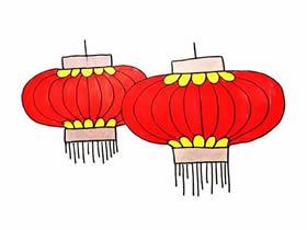 大红灯笼简笔画画法图片步骤