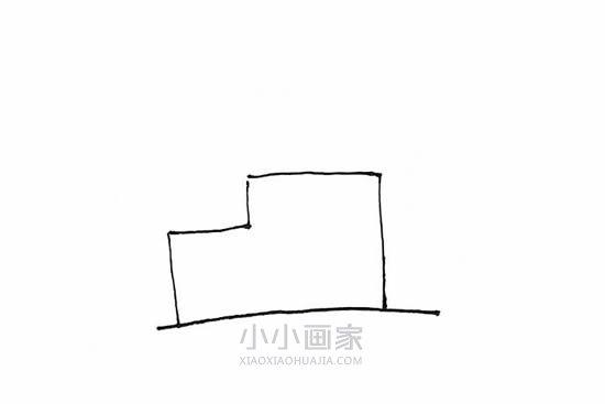 开工的工厂简笔画画法图片步骤- www.xiaoxiaohuajia.com