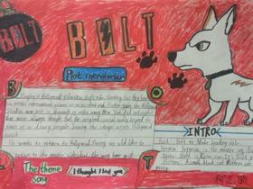 闪电狗Bolt英语手抄报图片资料