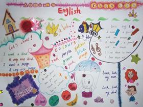 小学生寒假英语学习手抄报图片漂亮