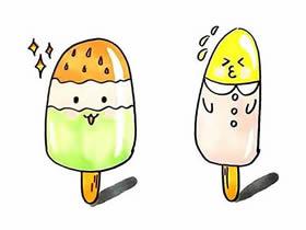 夏天卡通雪糕简笔画画法图片步骤