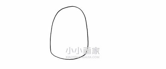 夏天卡通雪糕简笔画画法图片步骤- www.xiaoxiaohuajia.com