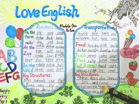 小学生我爱英语手抄报图片漂亮