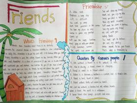 关于朋友的英语手抄报简单又漂亮