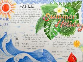 暑期走进英国英语手抄报图片漂亮九年级