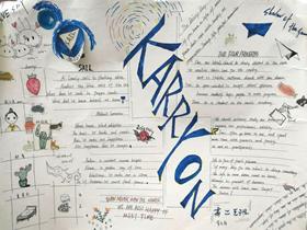 高二KarryOn英语手抄报版面设计