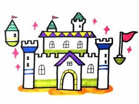 魔法城堡简笔画画法图片步骤