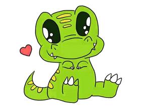 可爱恐龙宝宝简笔画画法图片步骤