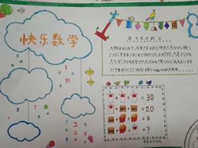 三年级快乐数学手抄报图片内容简单又漂亮