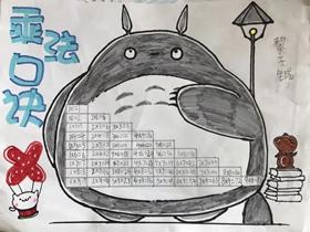 二年级乘法口诀手抄报图片简单
