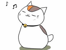 听音乐的猫咪简笔画画法图片步骤