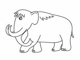 猛犸象简笔画画法图片步骤