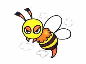 可爱马蜂简笔画画法图片步骤