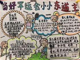 武汉世界军人运动会手抄报图片小学生