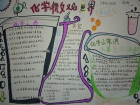 化学微观世界手抄报版面设计图九年级