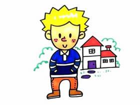 外国小男孩简笔画画法图片步骤