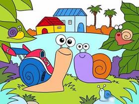 极速蜗牛特博简笔画画法图片步骤