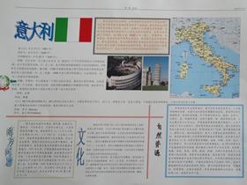 关于意大利的手抄报图片版面