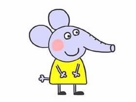 小象艾米丽简笔画画法图片步骤