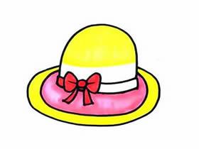 漂亮太阳帽简笔画画法图片步骤