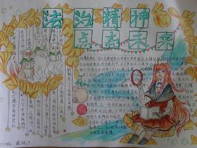 宪法日手抄报图片漂亮高二