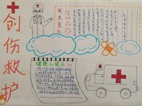 创伤救护手抄报简单图片