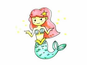 搞笑的美人鱼简笔画画法图片步骤