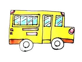 简单校车简笔画画法图片步骤