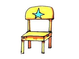 可爱儿童椅简笔画画法图片步骤
