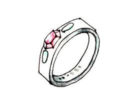 漂亮宝石戒指简笔画画法图片步骤