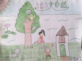 手抄报观爱滇池_清新商丘绿色出行手抄报图片内容五年级_小小画家