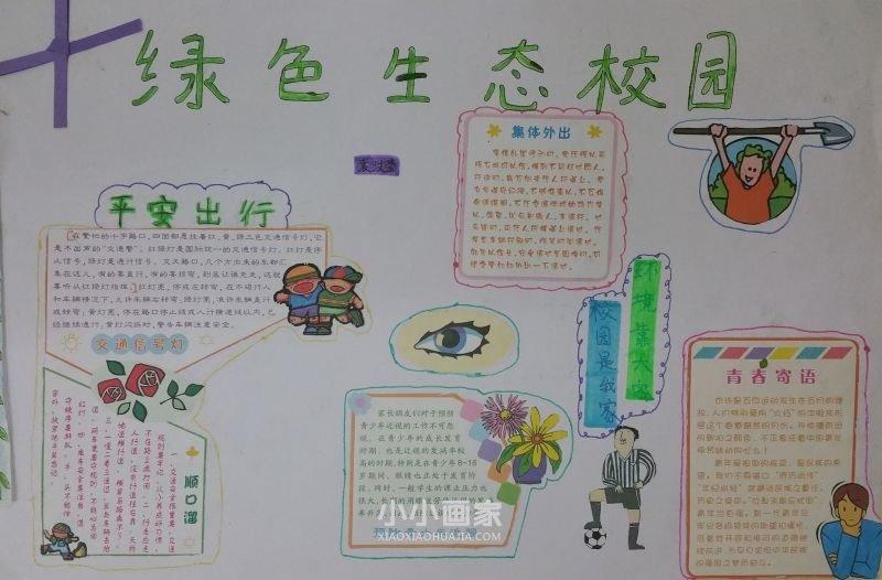绿色环保小知识_绿色生态校园手抄报素材简单又漂亮六年级_小小画家