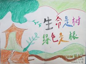 爱绿护绿的手抄报怎么画漂亮四年级