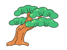 彩色松树简笔画画法图片步骤