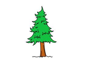 可爱松树简笔画画法图片步骤