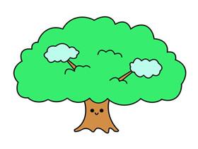 可爱卡通大树简笔画画法图片步骤