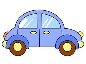 卡通小汽车简笔画画法图片步骤