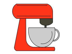 彩色咖啡机简笔画画法图片步骤