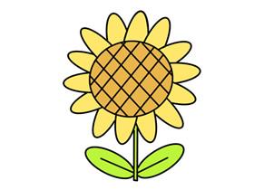卡通向日葵简笔画画法图片步骤