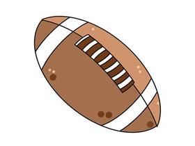 彩色橄榄球简笔画画法图片步骤