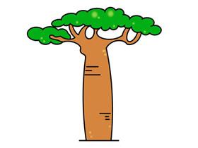 卡通面包树简笔画画法图片步骤