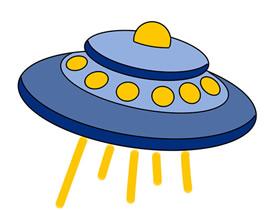 飞碟UFO简笔画画法图片步骤
