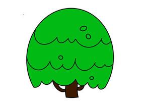 有趣的大树简笔画画法图片步骤
