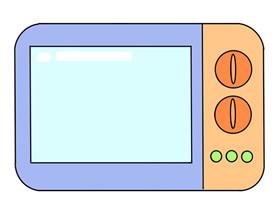 彩色微波炉简笔画画法图片步骤