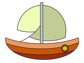 卡通帆船简笔画画法图片步骤