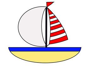 可爱小帆船简笔画画法图片步骤