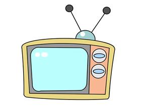 老款电视简笔画画法图片步骤