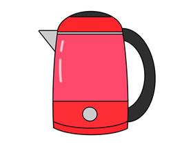 彩色热水壶简笔画画法图片步骤